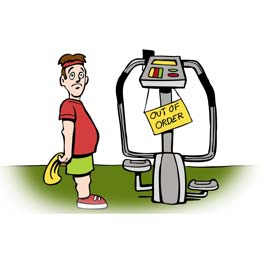 fitness equipment service request